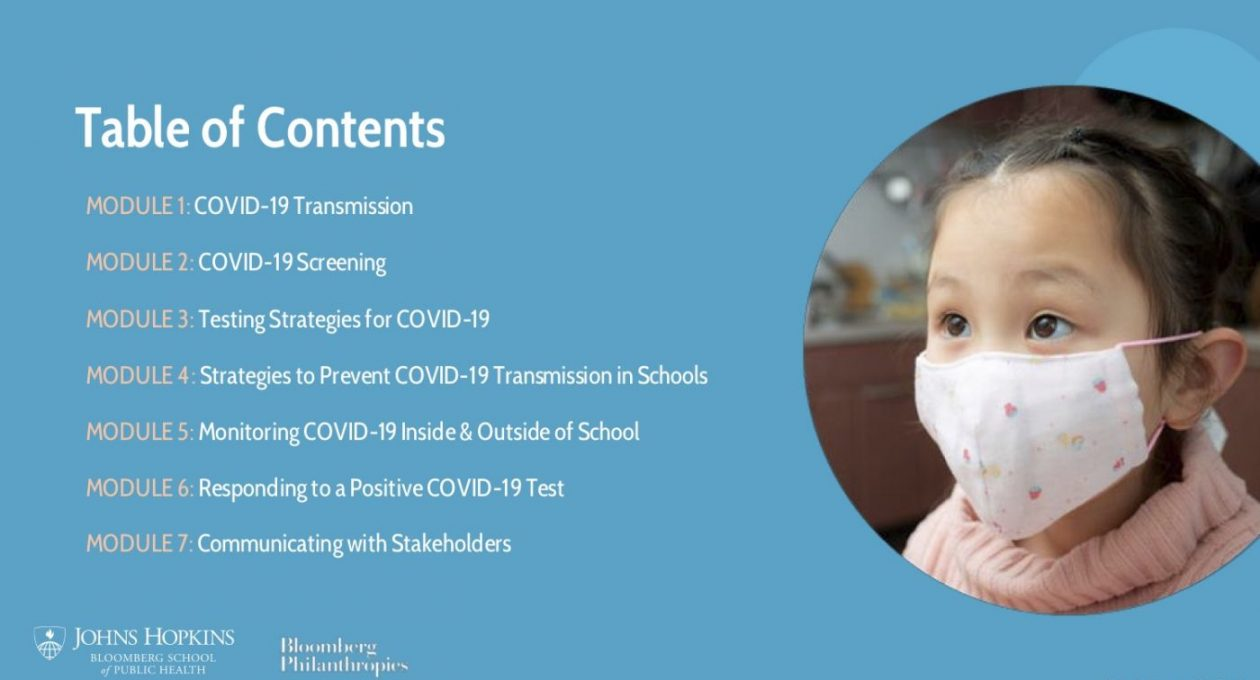 School Re-Opening in the Era of COVID-19:  Public health principles and best practices for school districts